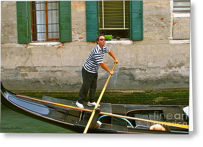 Singing Gondolier -venice Greeting Card