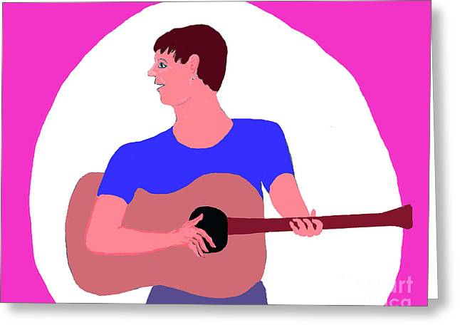 Singing Guitarist Greeting Card