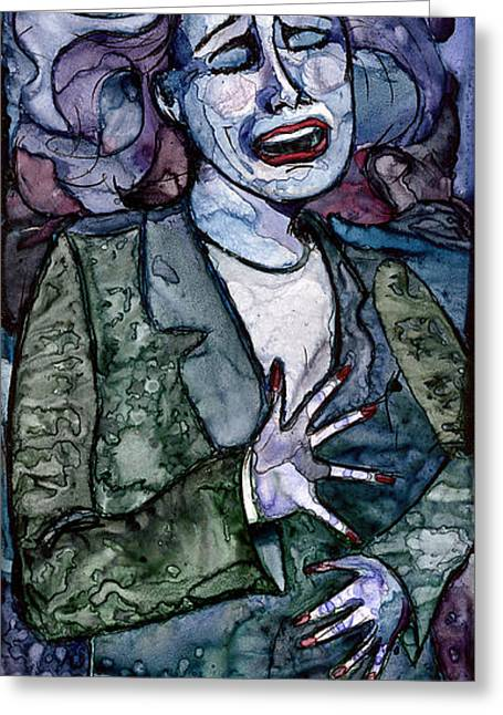 Singing Lady-blues Greeting Card