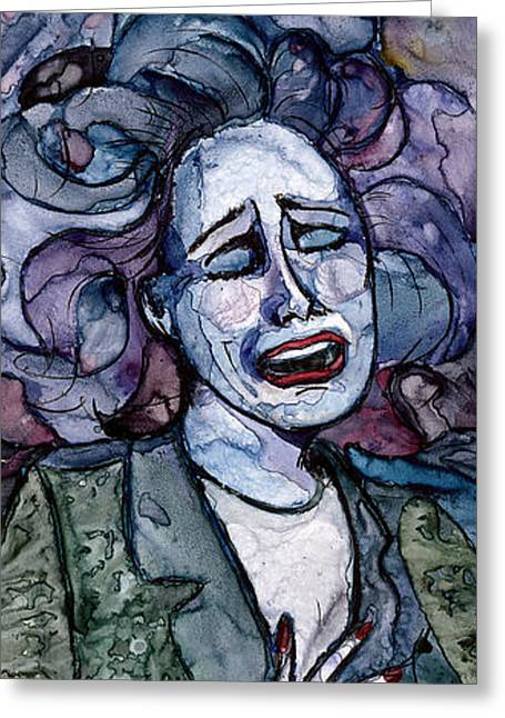 Singing Lady-blues Greeting Card