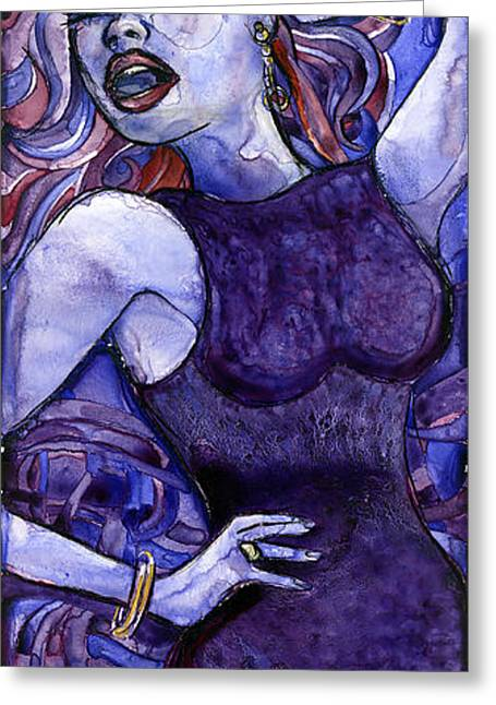 Singing Lady- Jazz Greeting Card