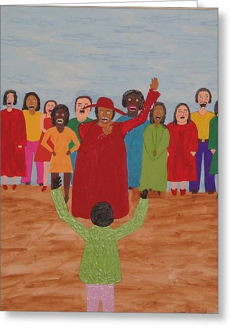 Singing To God Greeting Card by Gregory Davis