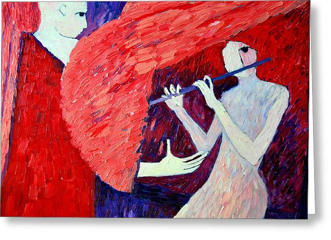 Singing To My Angel 1 Greeting Card by Ana Maria Edulescu