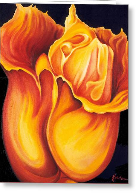 Singing Tulip Greeting Card