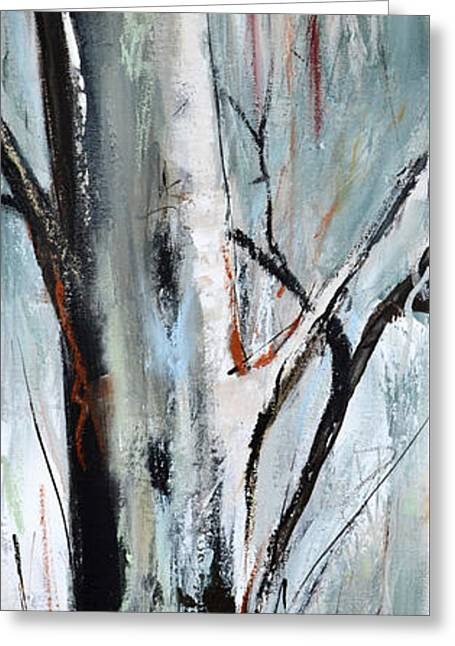 Greeting Card featuring the painting Single Aspen by Cher Devereaux