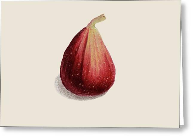 Single Fig Greeting Card by Carlee Lingerfelt