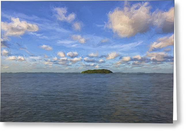 Single Island II Greeting Card by Jon Glaser