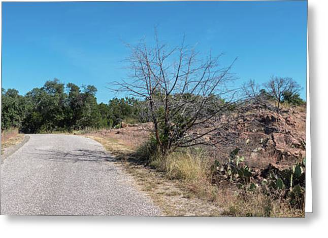 Single Lane Road In The Hill Country Greeting Card