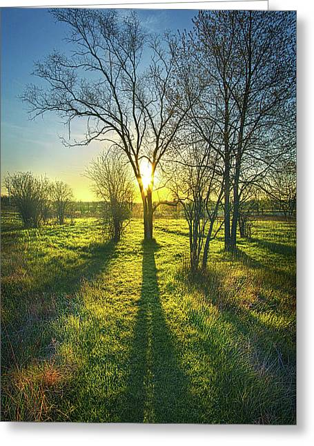 Single Moments Greeting Card by Phil Koch