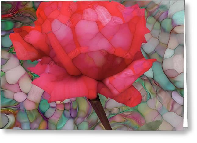 Single Rose Greeting Card by Jack Zulli