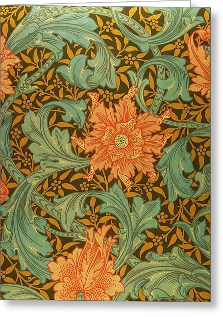 Single Stem Pattern Greeting Card by William Morris