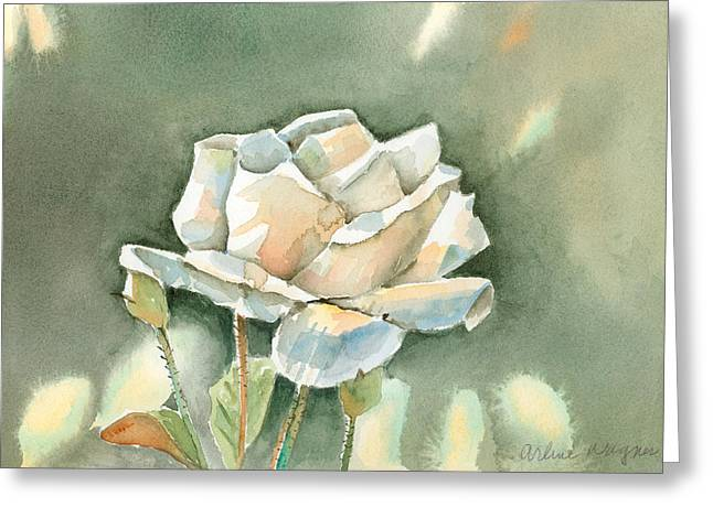Single  White Rose Greeting Card