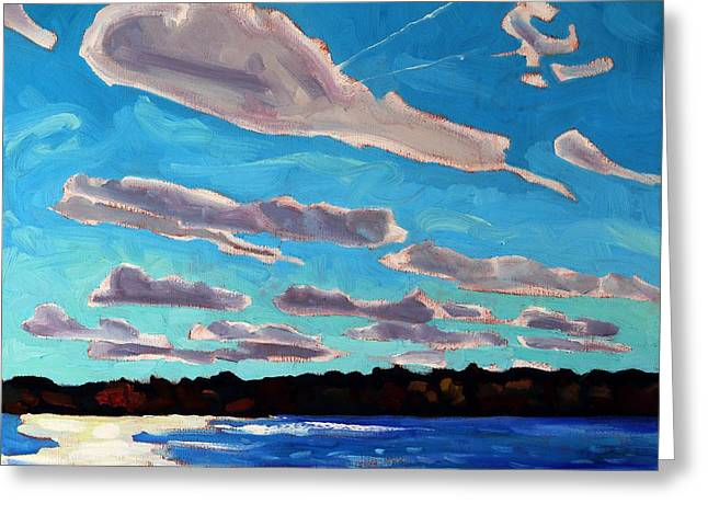 Singleton Turbulent Stratocumulus Streets Greeting Card by Phil Chadwick