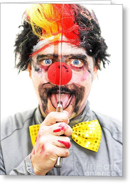 Sinister Clown Greeting Card