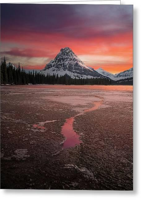 Sinopah Mountain Sundown // Two Medicine Lake, Glacier National Park  Greeting Card
