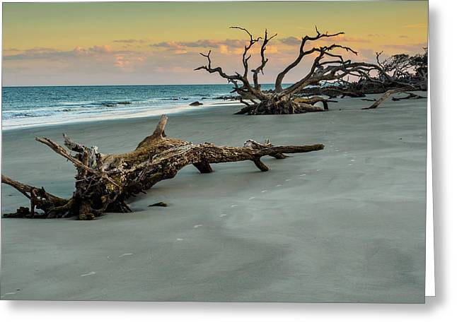 Greeting Card featuring the photograph Sunset On Jekyll Island by Louis Dallara