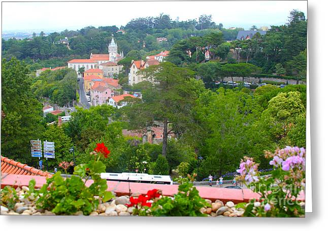 Sintra View Greeting Card by Carey Chen