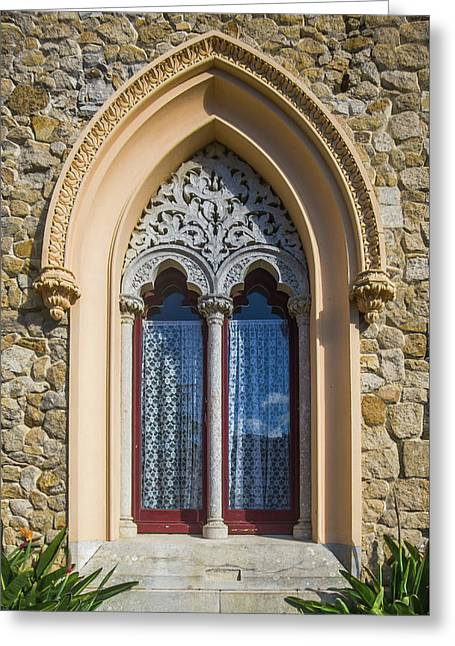 Greeting Card featuring the photograph Sintra Window by Carlos Caetano