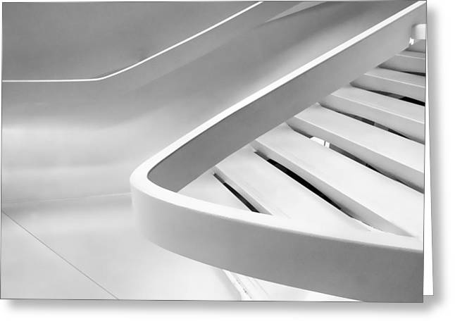 Sinuous In White Greeting Card