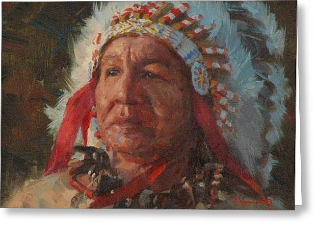 Sioux Chief Greeting Card by Jim Clements