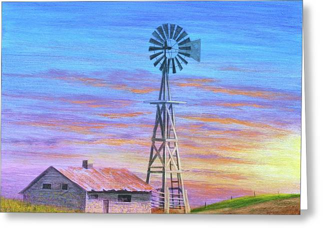 Sioux County Sunrise Greeting Card by J W Kelly