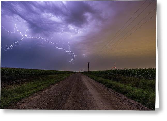 Sioux Falls Lightning Greeting Card