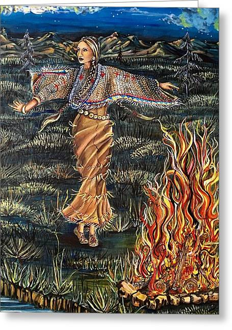 Sioux Woman Dancing Greeting Card