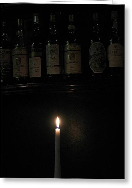 Sipping By Candlelight Greeting Card by Staci-Jill Burnley