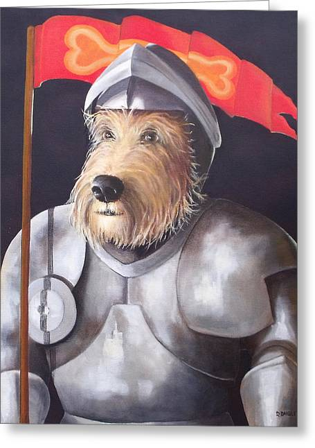 Sir Barksalot Greeting Card