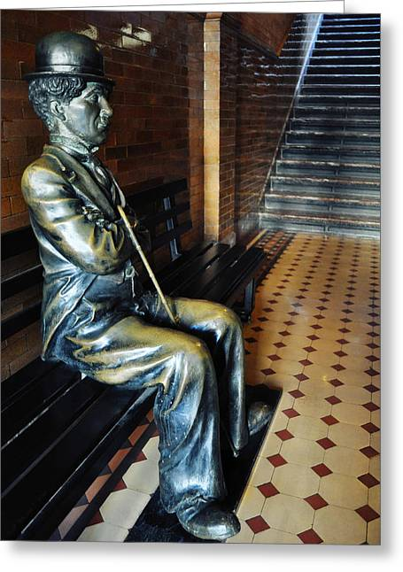 Greeting Card featuring the photograph Sir Charles Chaplin by Kyle Hanson