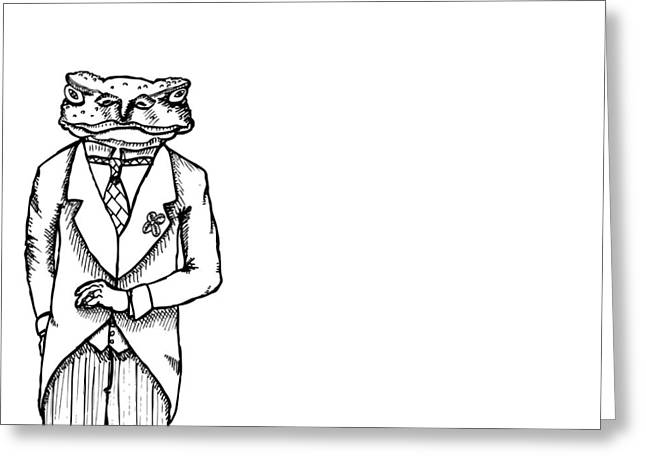 Sir Franklin The Toad Greeting Card by Karl Addison