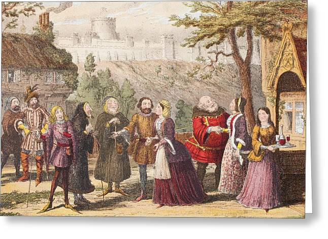Sir John Falstaff On A Visit To His Greeting Card