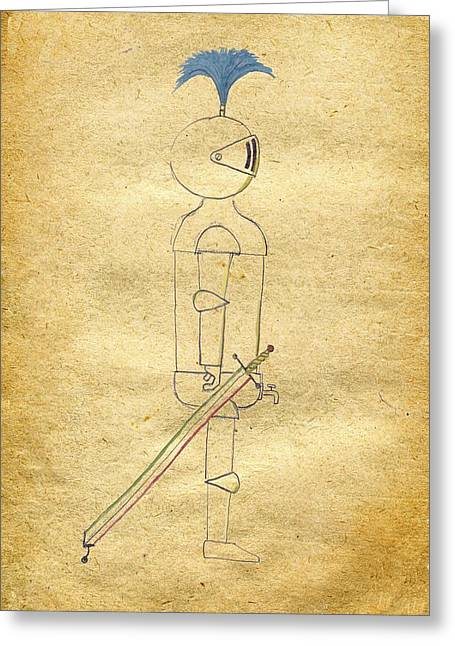 Sir Loin - The Game Knight Greeting Card by Lin Grosvenor