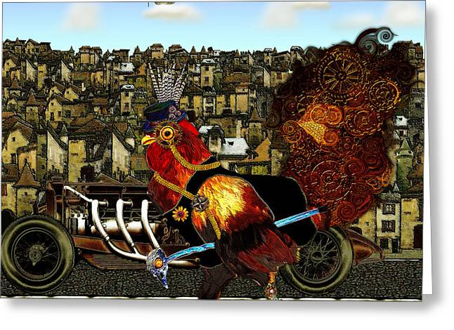 Sir Marcellus Thaddeus Cluckington Greeting Card