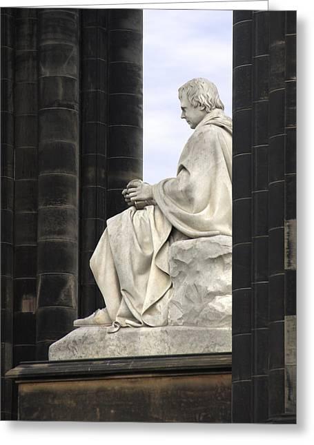 Sir Walter Scott Statue Greeting Card by Mike McGlothlen