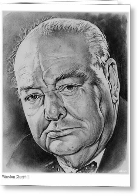 Sir Winston Churchill Greeting Card by Greg Joens