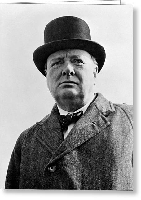 Sir Winston Churchill Greeting Card by War Is Hell Store