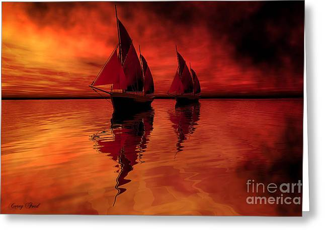 Boat Cruise Digital Greeting Cards - Siren Song Greeting Card by Corey Ford