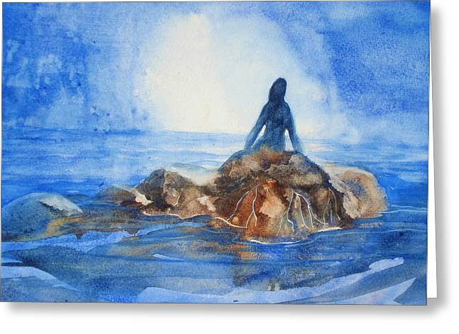 Greeting Card featuring the painting Siren Song by Marilyn Jacobson