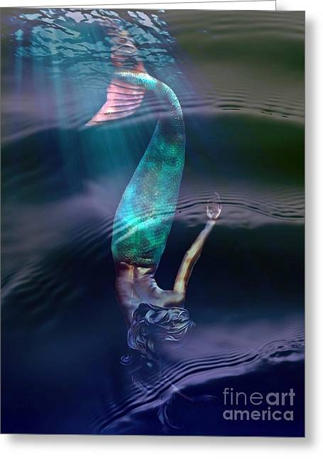Sirena Greeting Card by Lilliana Mendez