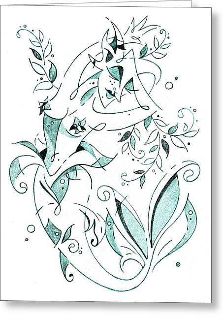 Sirena - Mermaid Fantasy Book Illustration Greeting Card