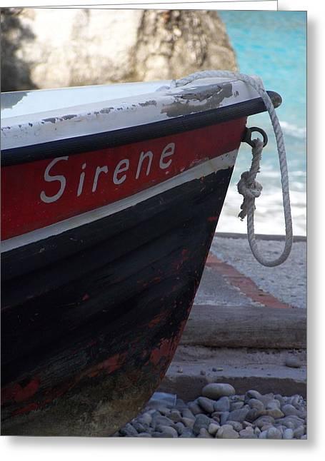 Sirene Greeting Card by Adam Schwartz