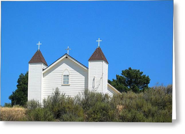 Sisquoc Church Greeting Card by Deborah Hildinger