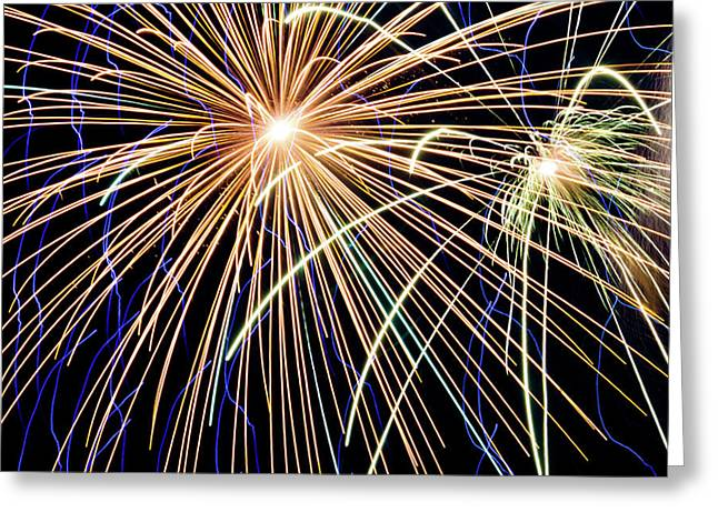 Sister Bay Fireworks Greeting Card
