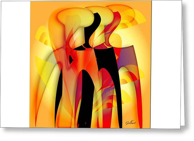 Sisters 4 Greeting Card by Iris Gelbart