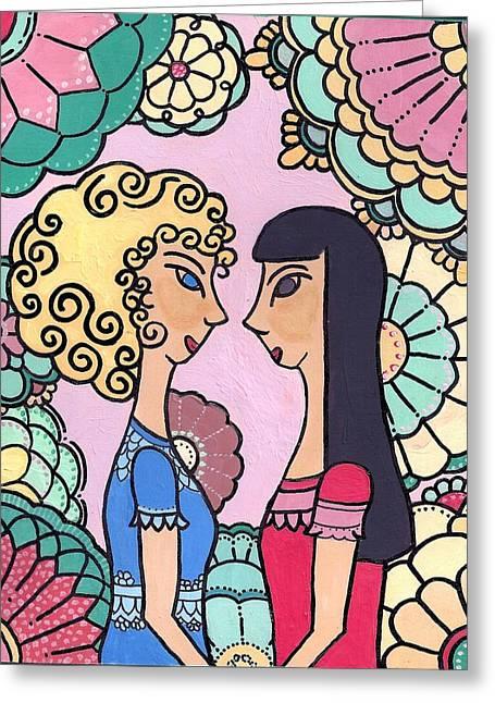 Sisters - Acrylic Greeting Card