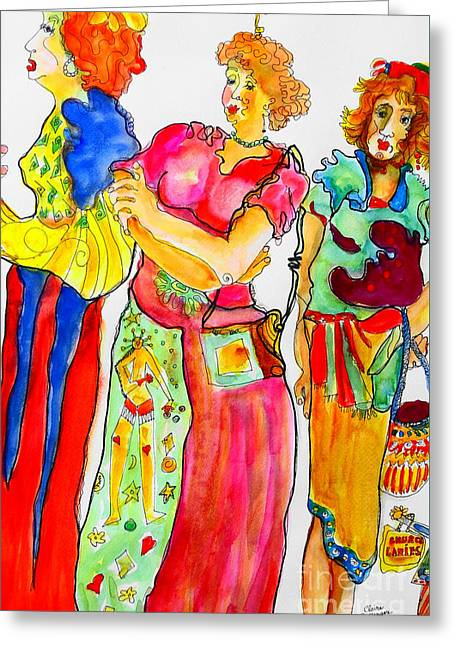 Sisters Greeting Card by Claire Sallenger Martin