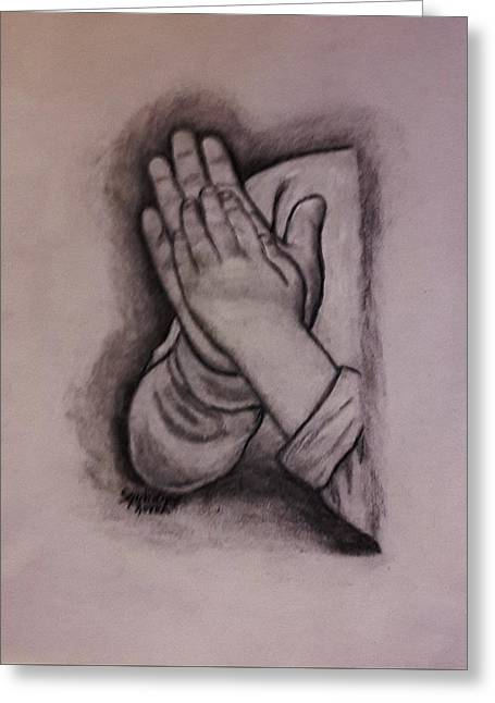 Sisters' Hands Greeting Card by Christy Saunders Church