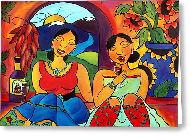 Sisters - Hermanas Greeting Card