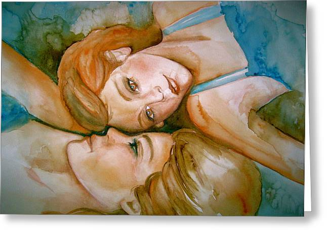 Sisters Greeting Card by L Lauter